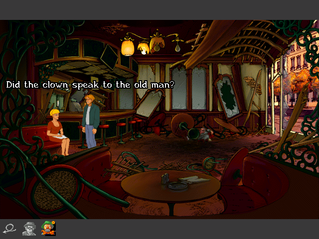 Broken Sword - Asking about a clown