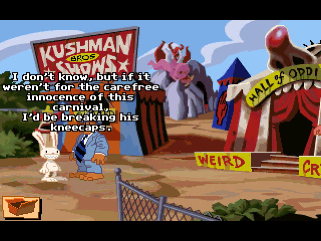 Sam n Max Hit the Road and a clownless-show