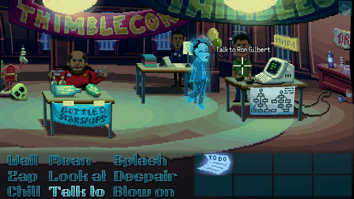 Ron Gilbert in Thimbleweed Park