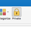Making meetings private in Outlook