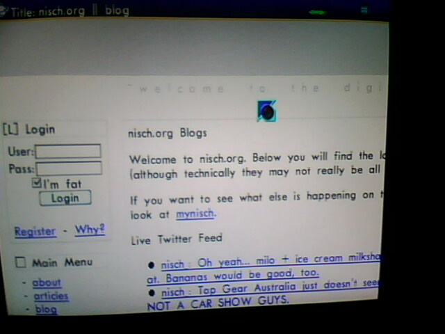 nisch.org on a Dreamcast